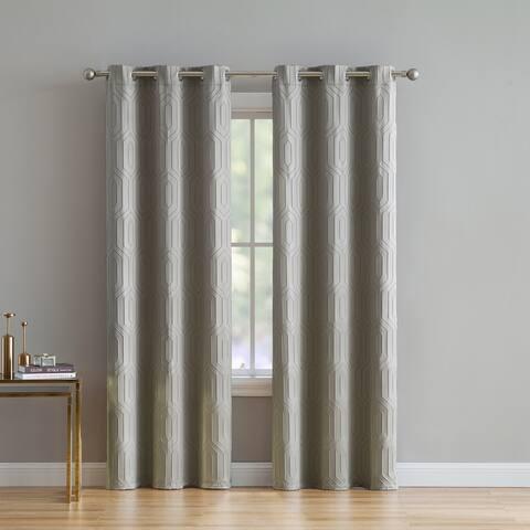 Porch & Den Frederick Geometric Curtain Panel Pair