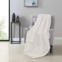 VCNY Home Victoria Herringbone Plush Throw Blanket