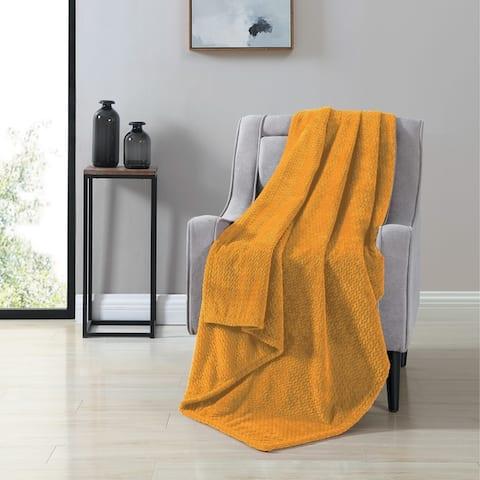 VCNY Home Victoria Herringbone Plush Throw Blanket