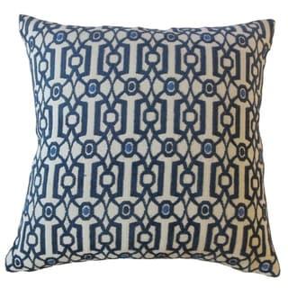 Saadet Crewel Throw Pillow Sapphire