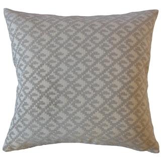 Tadewi Crewel Throw Pillow Alabaster