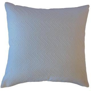 Raman Solid Throw Pillow Snow