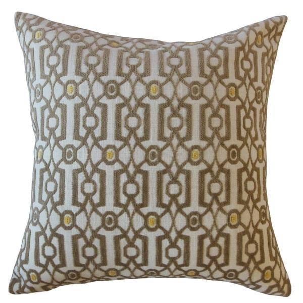 Saadet Crewel Throw Pillow Antique