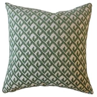 Tadewi Crewel Throw Pillow Malachite