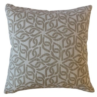 Varden Geometric Throw Pillow Beeswax