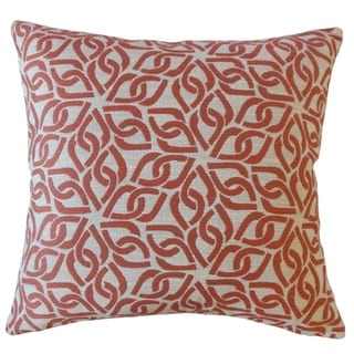 Varden Geometric Throw Pillow Persimmon
