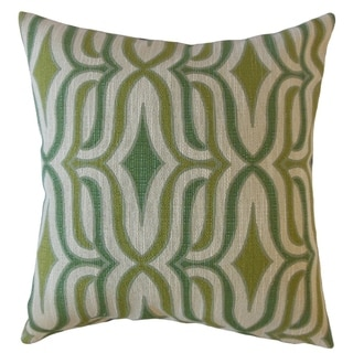 Camara Geometric Throw Pillow Peridot