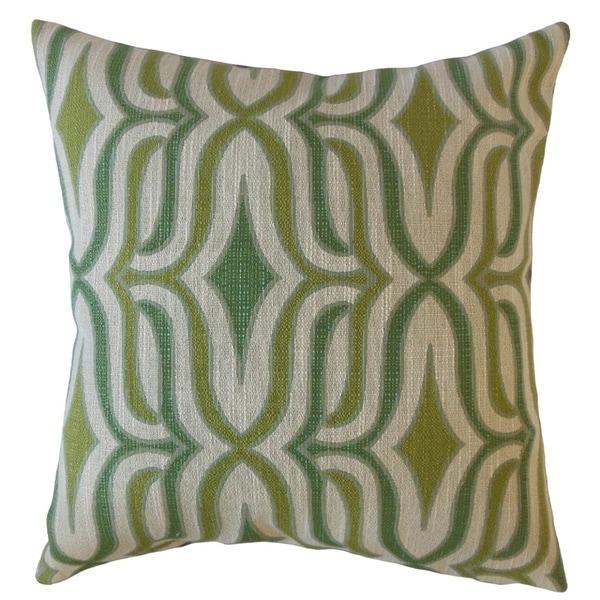 Camara Geometric Throw Pillow Peridot
