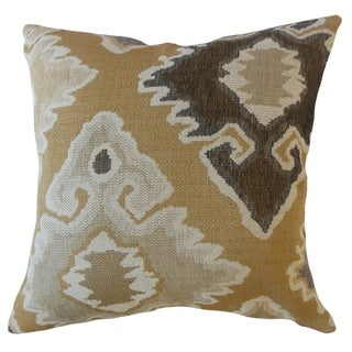Vanya Ikat Throw Pillow Desert