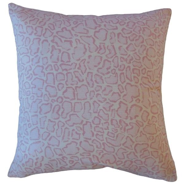 Urit Animal Print Throw Pillow Pink