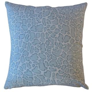 Urit Animal Print Throw Pillow Ice Blue