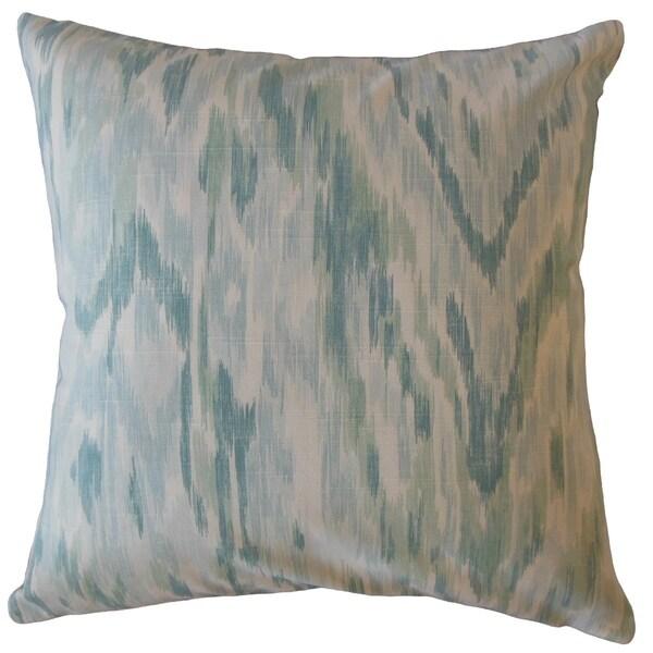 Wiebke Ikat Throw Pillow Aqua