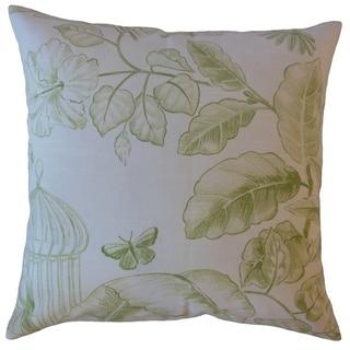 Xiahe Floral Throw Pillow Eucalyptus