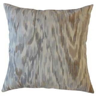 Wiebke Ikat Throw Pillow Nickel