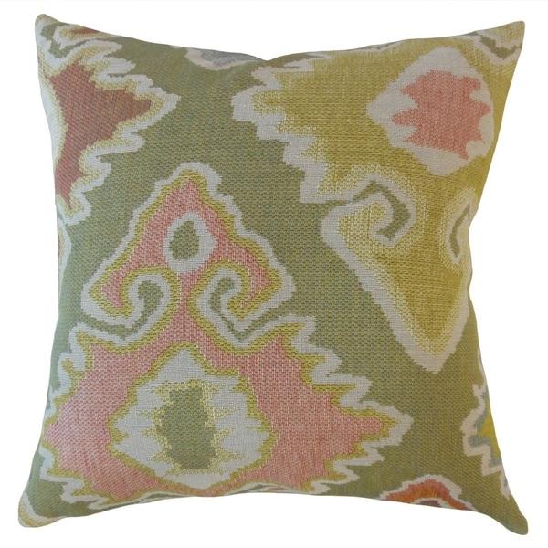Vanya Ikat Throw Pillow Sorbet
