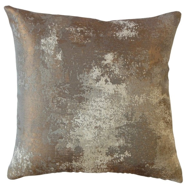 Zakhar Solid Throw Pillow Copper. Opens flyout.