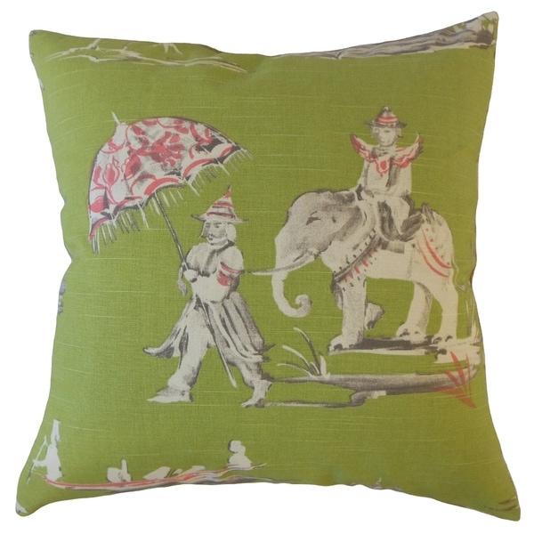 Bikita Chinoiserie Throw Pillow Pistachio