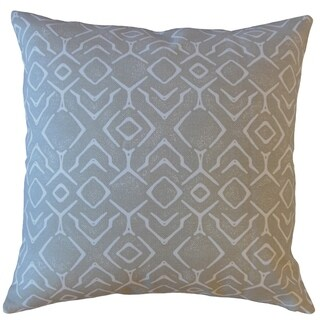 Maame Geometric Throw Pillow Porcelain