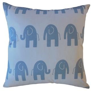 Damita Graphic Throw Pillow Blue
