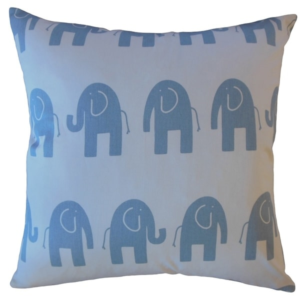 Damita Graphic Throw Pillow Blue