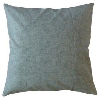 Hamlin Solid Throw Pillow Blue