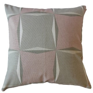 Ilayda Geometric Throw Pillow Rose