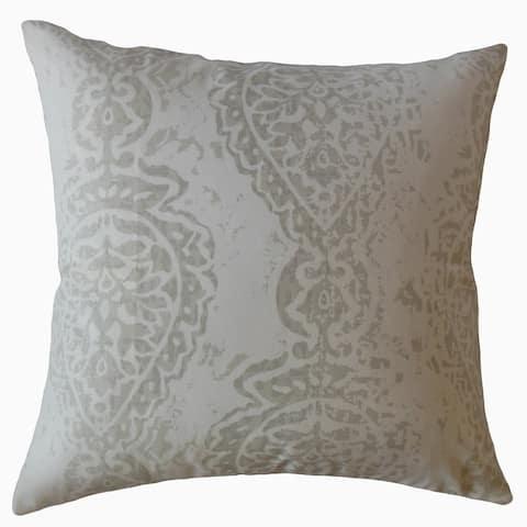 Naiara Ikat Throw Pillow Gray