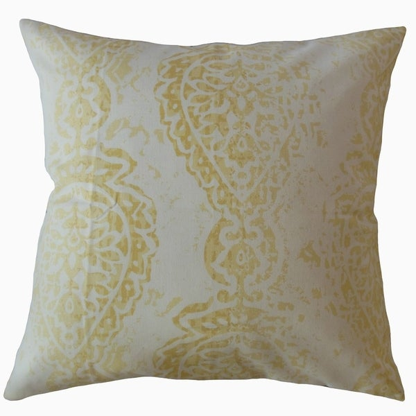 Naiara Ikat Throw Pillow Saffron