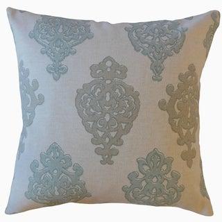 Palti Damask Throw Pillow Seahaze