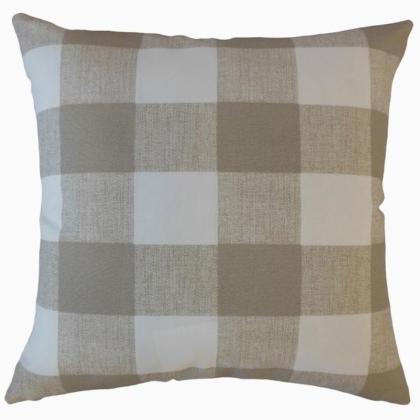 Walker Plaid Throw Pillow Beechwood