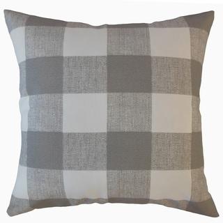 Walker Plaid Throw Pillow Gray