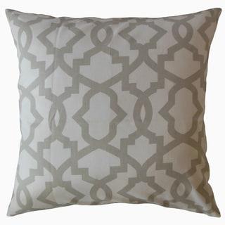 Callahan Geometric Throw Pillow French Gray