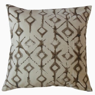 Kaniel Ikat Throw Pillow Caramel