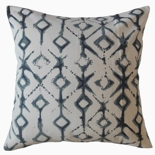 Kaniel Ikat Throw Pillow Indigo