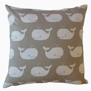Laibah Graphic Throw Pillow Gunmetal