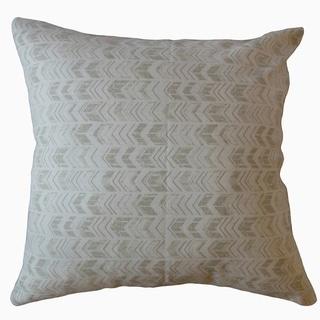Ganya Geometric Throw Pillow Porcelain