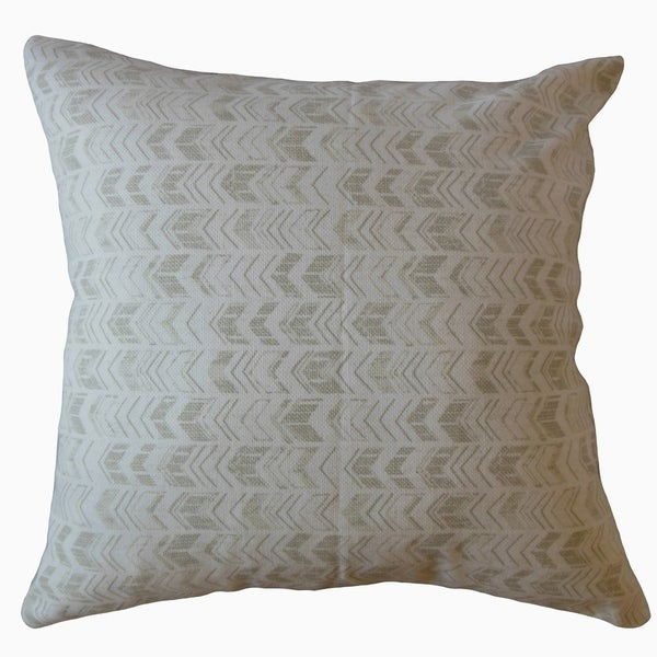Ganya Geometric Throw Pillow Porcelain