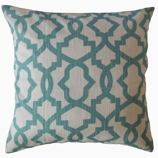 Callahan Geometric Throw Pillow Blue