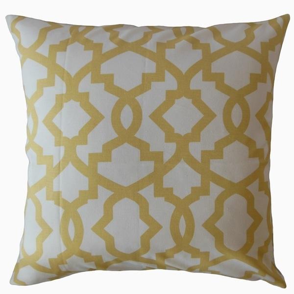 Callahan Geometric Throw Pillow Yellow