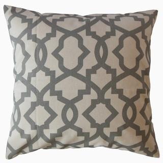 Callahan Geometric Throw Pillow Gray