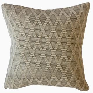Cadhla Geometric Throw Pillow Oatmeal