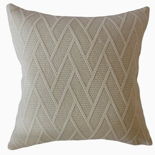 Gaurav Solid Throw Pillow Alabaster