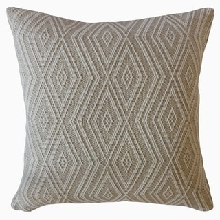 Barid Geometric Throw Pillow Sand