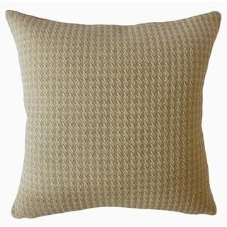 Harlean Solid Throw Pillow Oatmeal