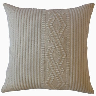 Madigan Solid Throw Pillow Cream