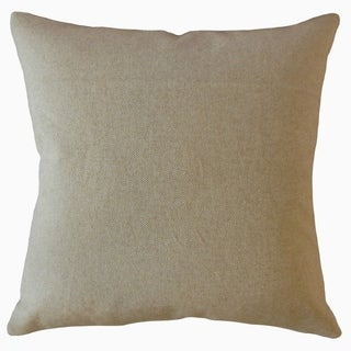 Ikram Solid Throw Pillow Oatmeal