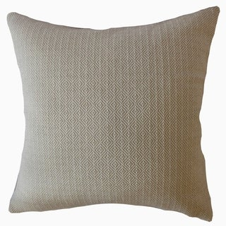 Parley Solid Throw Pillow Sand