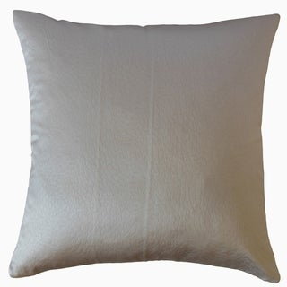 Yaseen Solid Throw Pillow Pewter