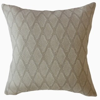 Tacey Solid Throw Pillow Almond