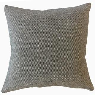 Veata Solid Throw Pillow Stout